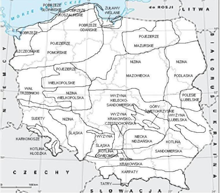 Jak Zaznaczyć Na Mapie Krainy Geograficzne Brainlypl