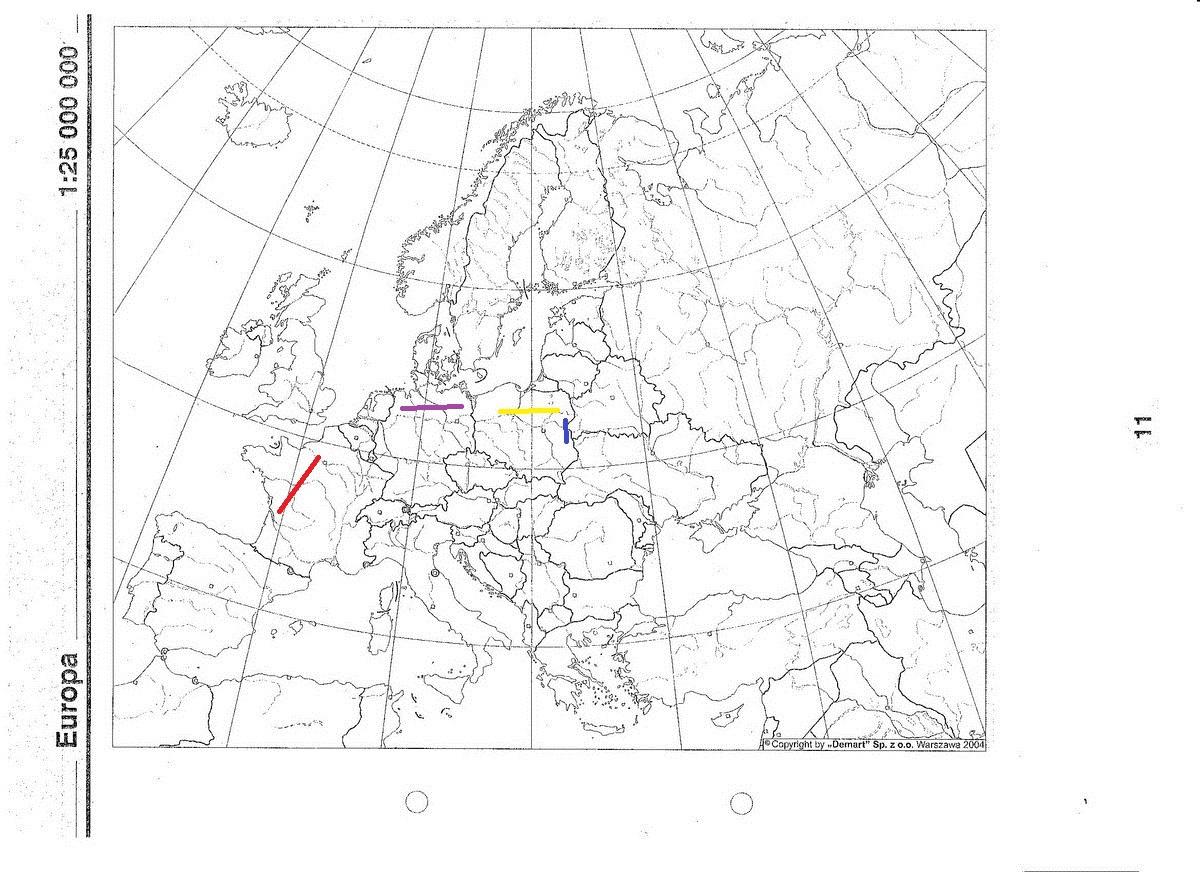 Zaznacz Na Mapie A Niziny Francuska Niemiecka Niziny