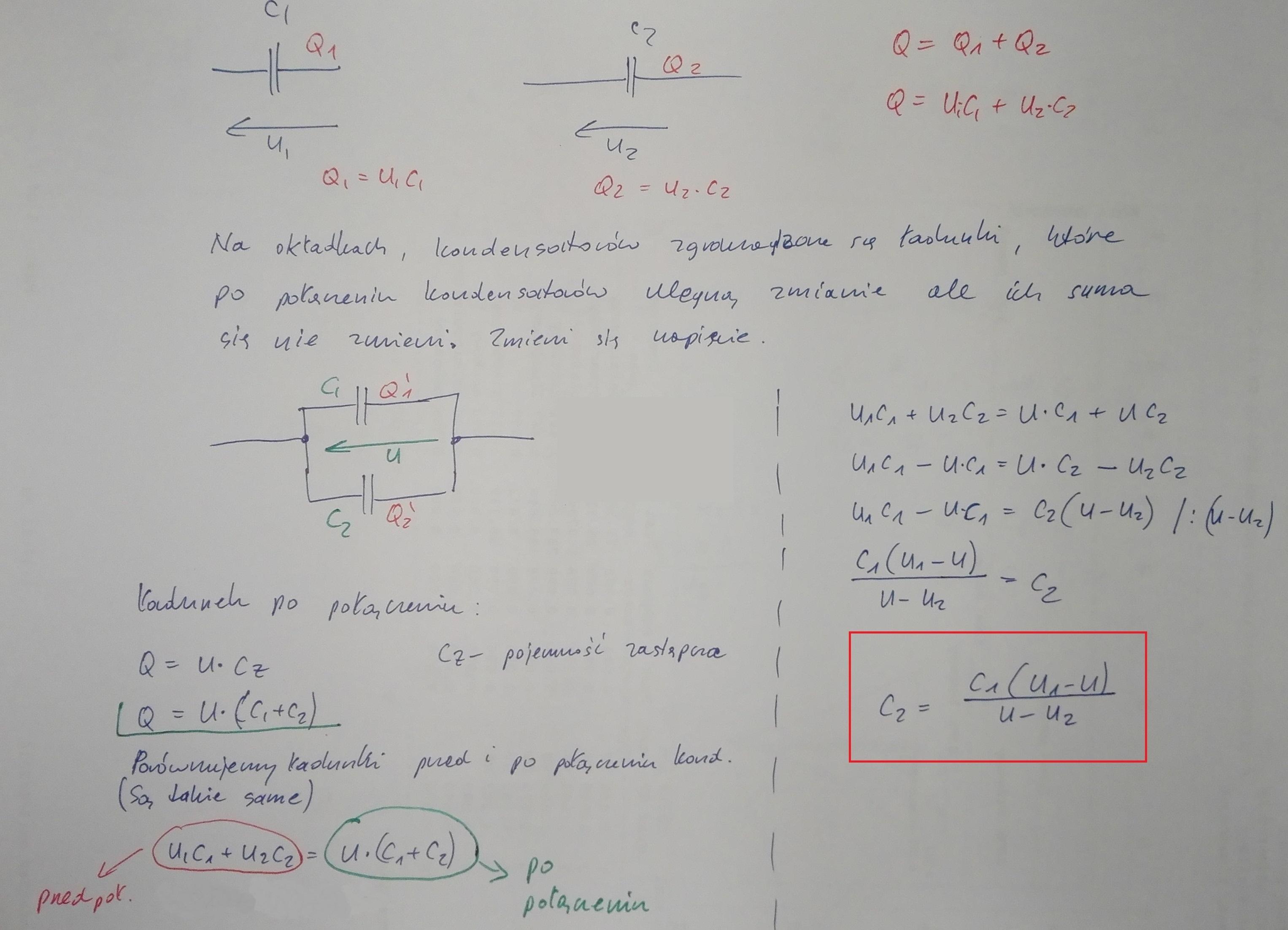 sprzedawca hurtowy strona internetowa ze zniżką przyjazd Naładowany do napięcia U1 kondensator o pojemności C1 ...