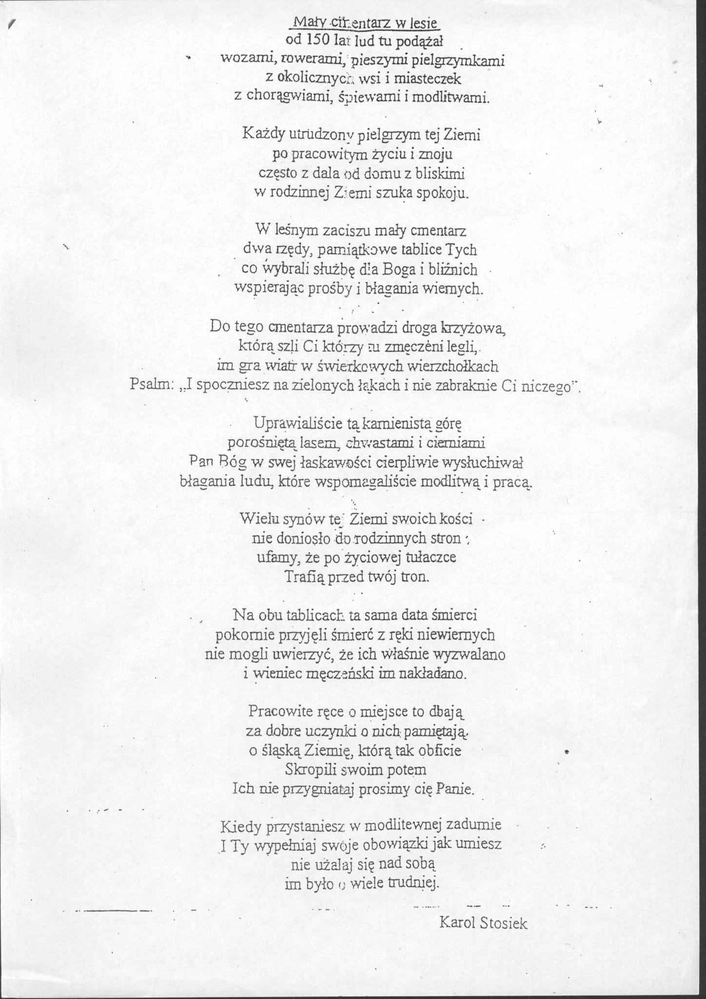 Proszę Napiszcie Mi Jakiś Fajny Wiersz O Lesie Który