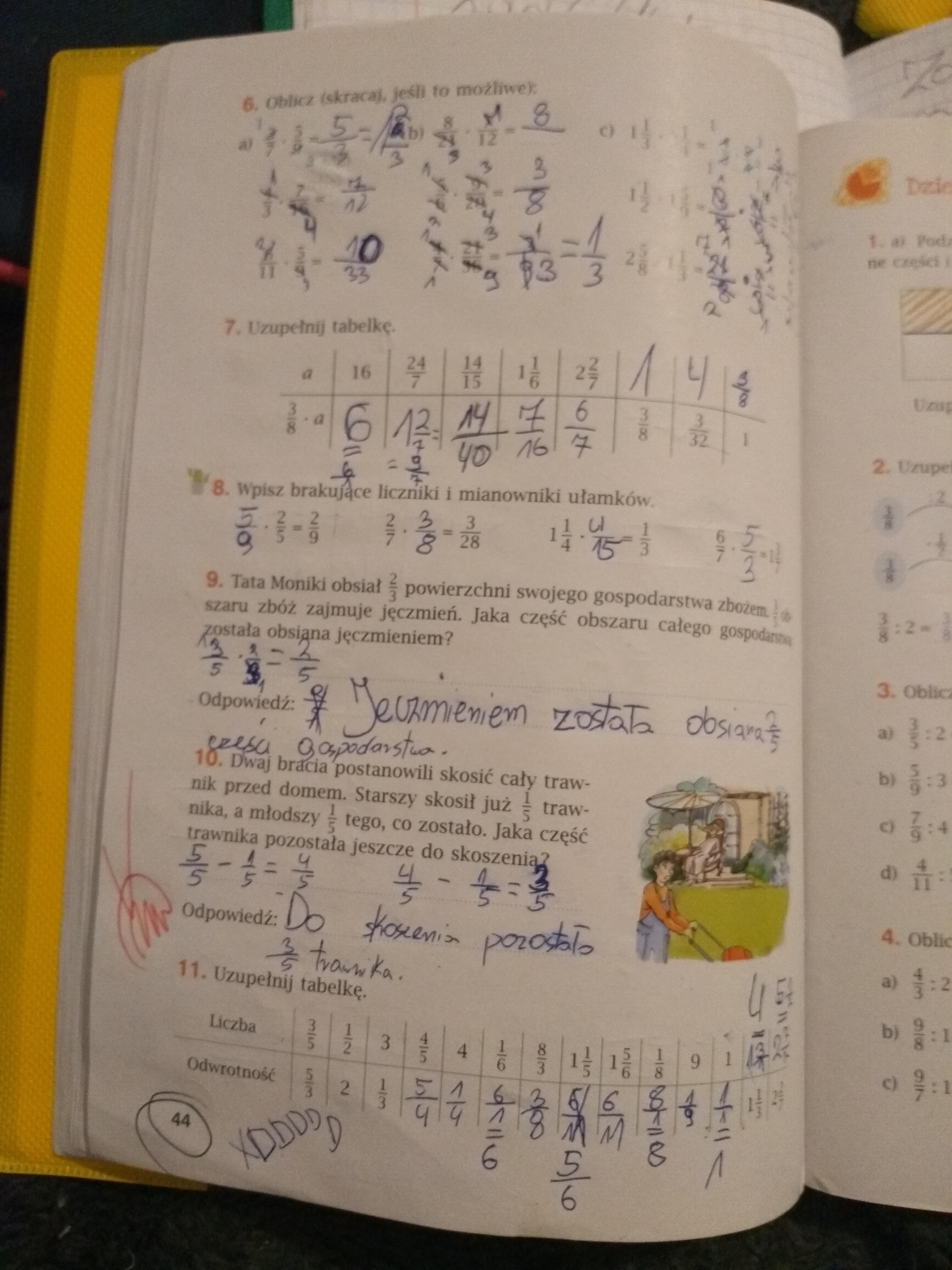 matematyka 3 gimnazjum ćwiczenia odpowiedzi