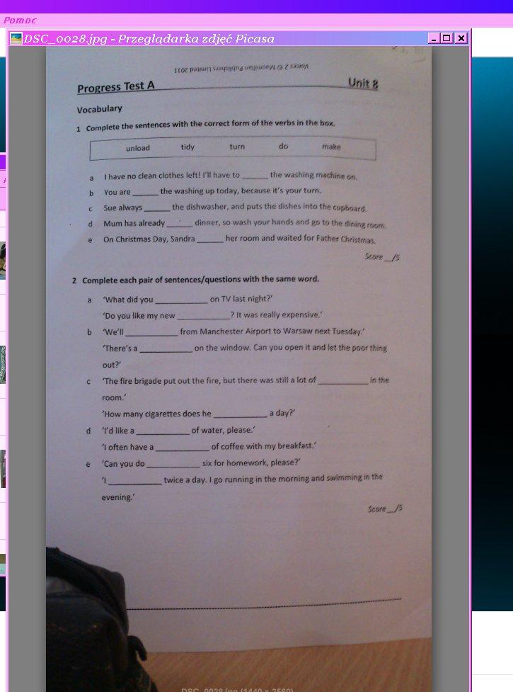 Ogromnie Pomożecie ktoś Pliss :( Sprawdzian z j.Angielskiegovoices 2 unit 8 JA84