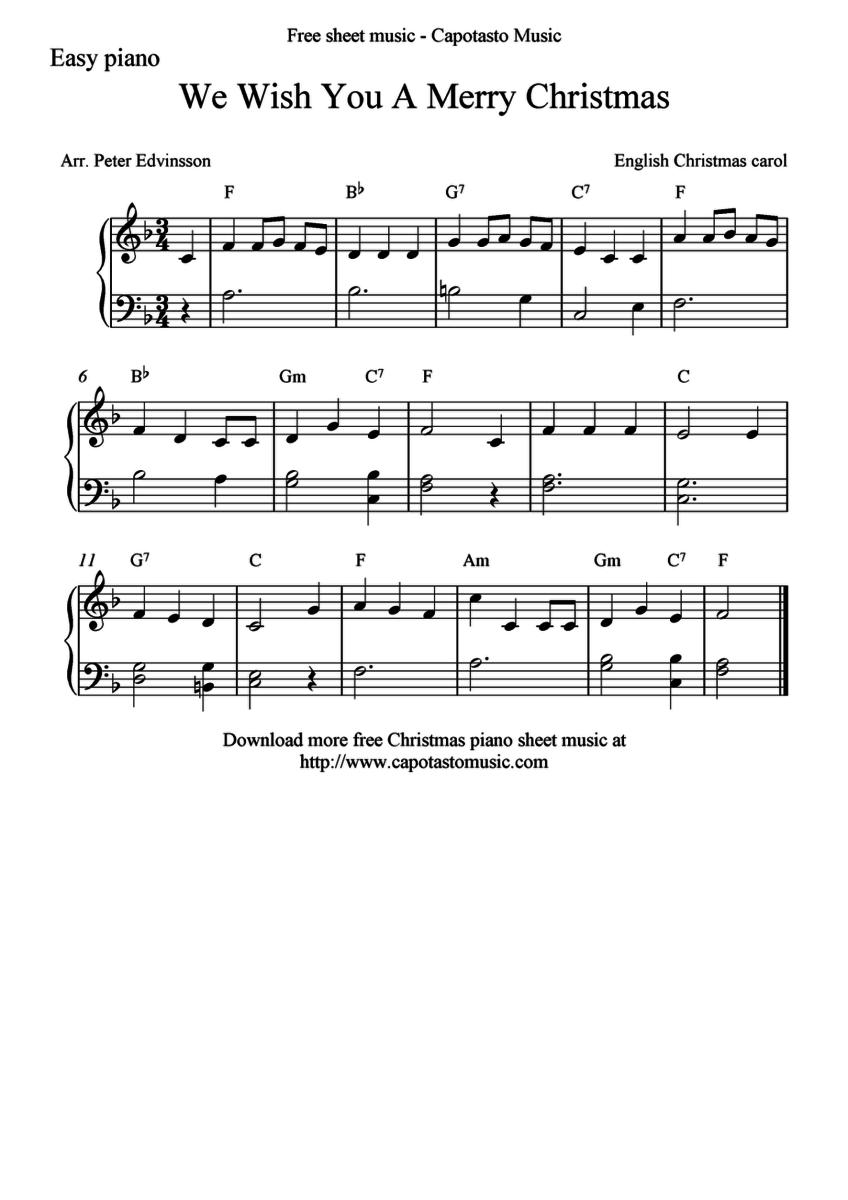 Niewiarygodnie Potrzebuję nuty na pianino do popularnych świątecznych piosenek TL82