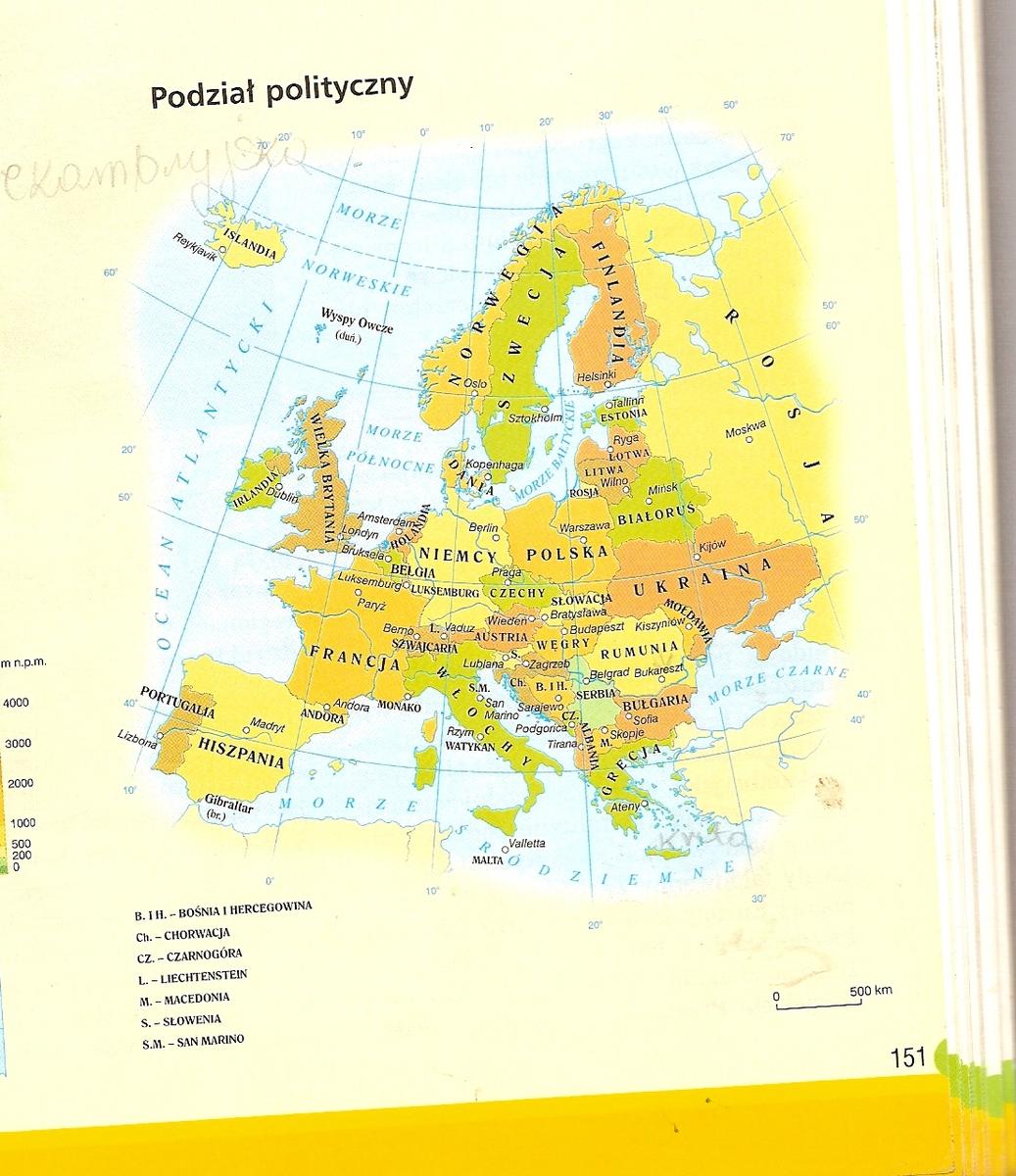 Mapa Europy Z Zaznaczonymi Stolicami Z Gory Dzieki Brainly Pl
