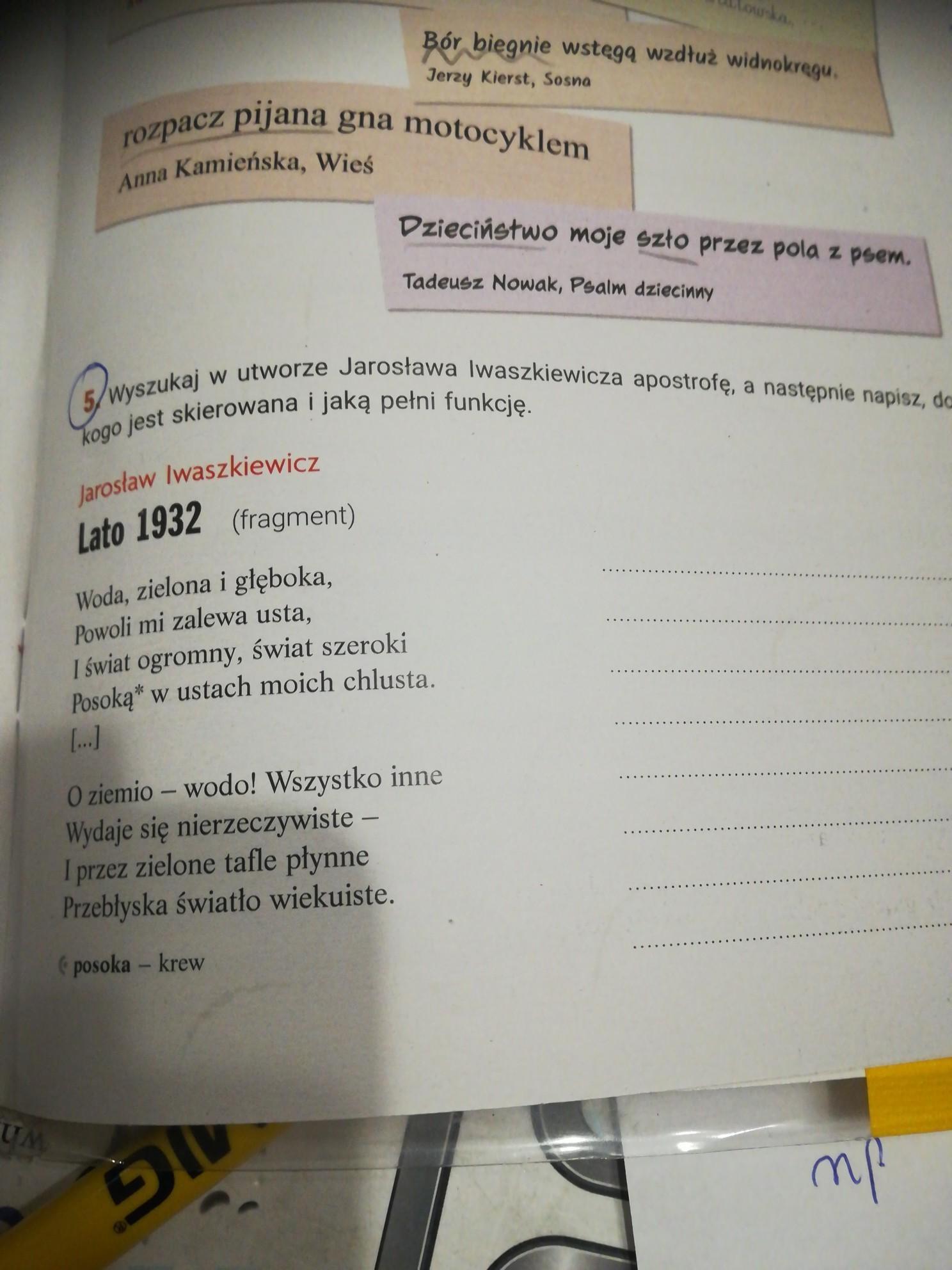 Pomocy Język Polski Wiersz Brainlypl