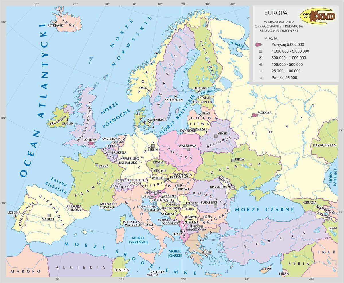 Pomozcie Znalezc Mape Europy Ze Stolicami Brainly Pl
