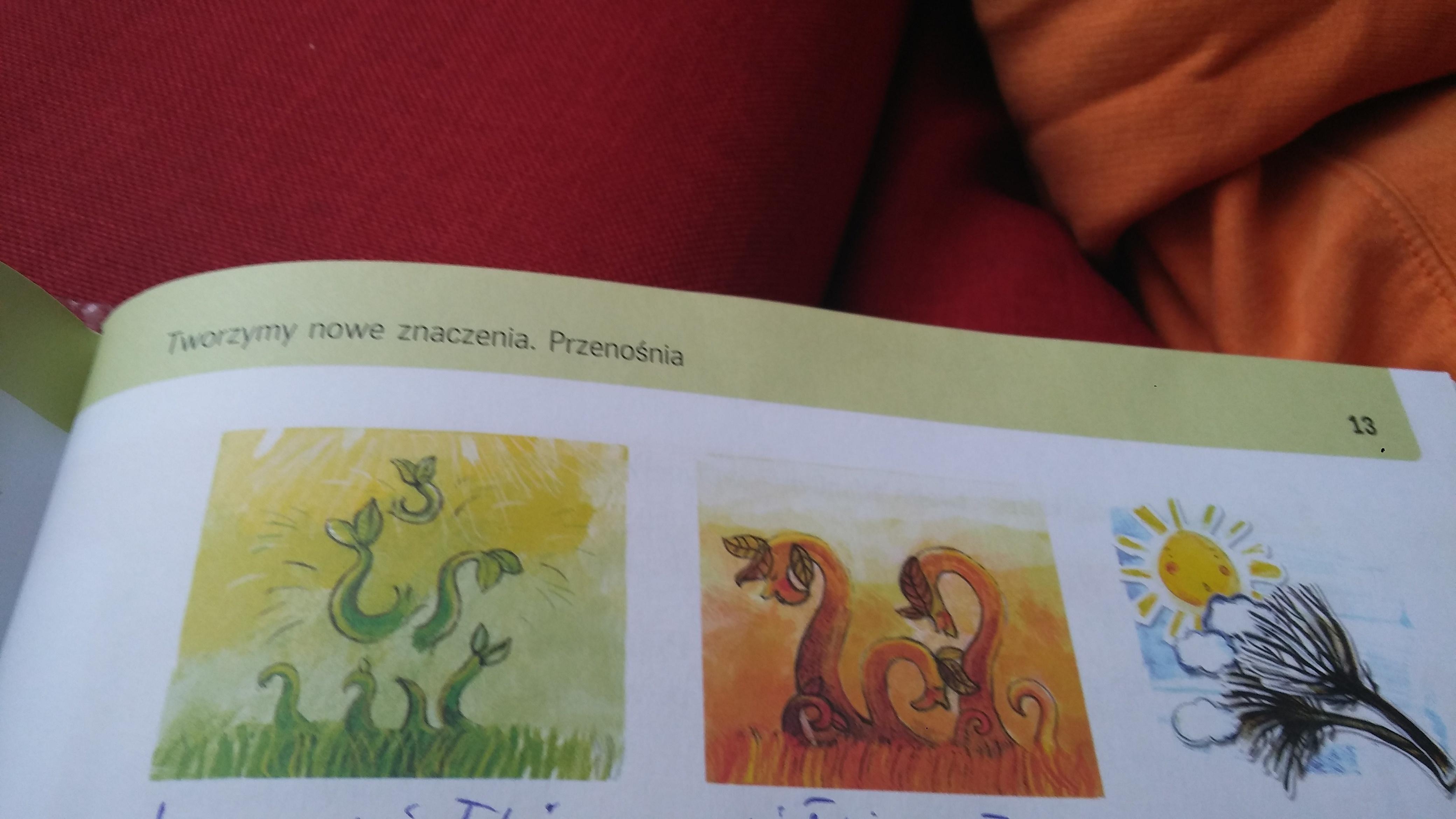 Podpisz Ilustracje Odpowiednimi Fragmentami Wiersza Wiosenne
