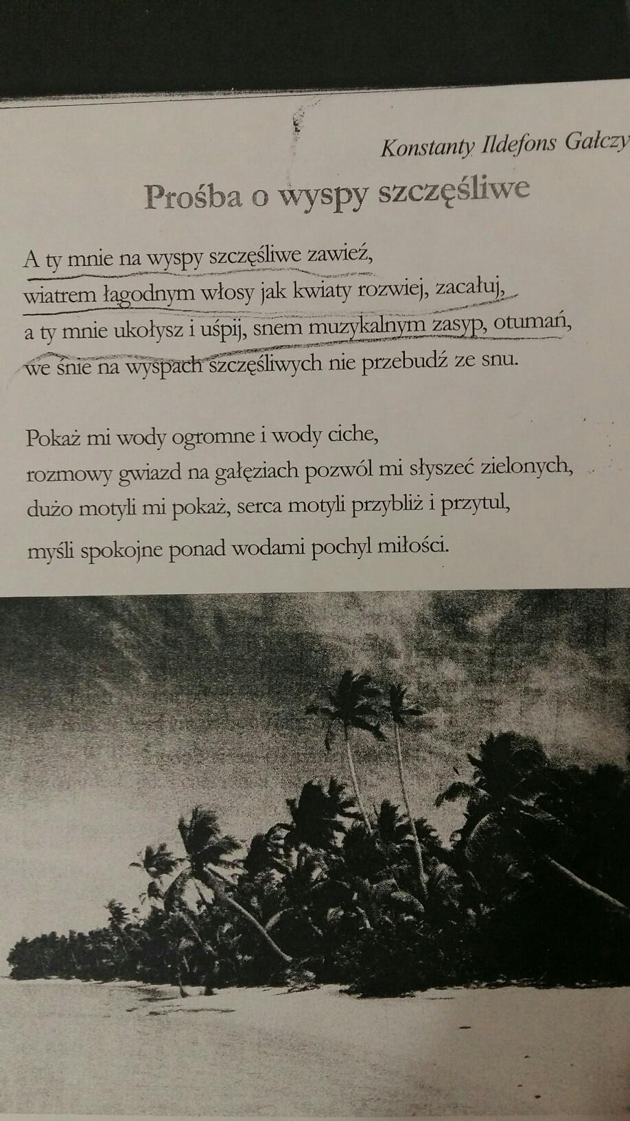 Opisz Załącznik 1 Co Jest Tematem Wiersza 2 Jaki Jest