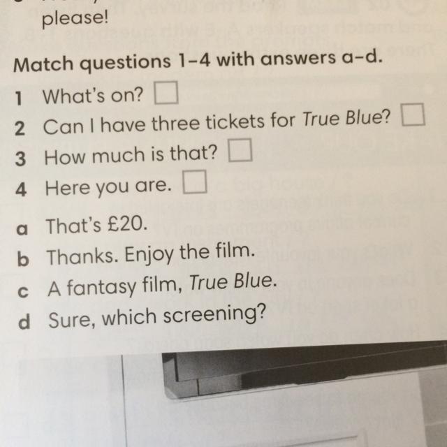 Match questions 1-4 answer a-d - Brainly.pl