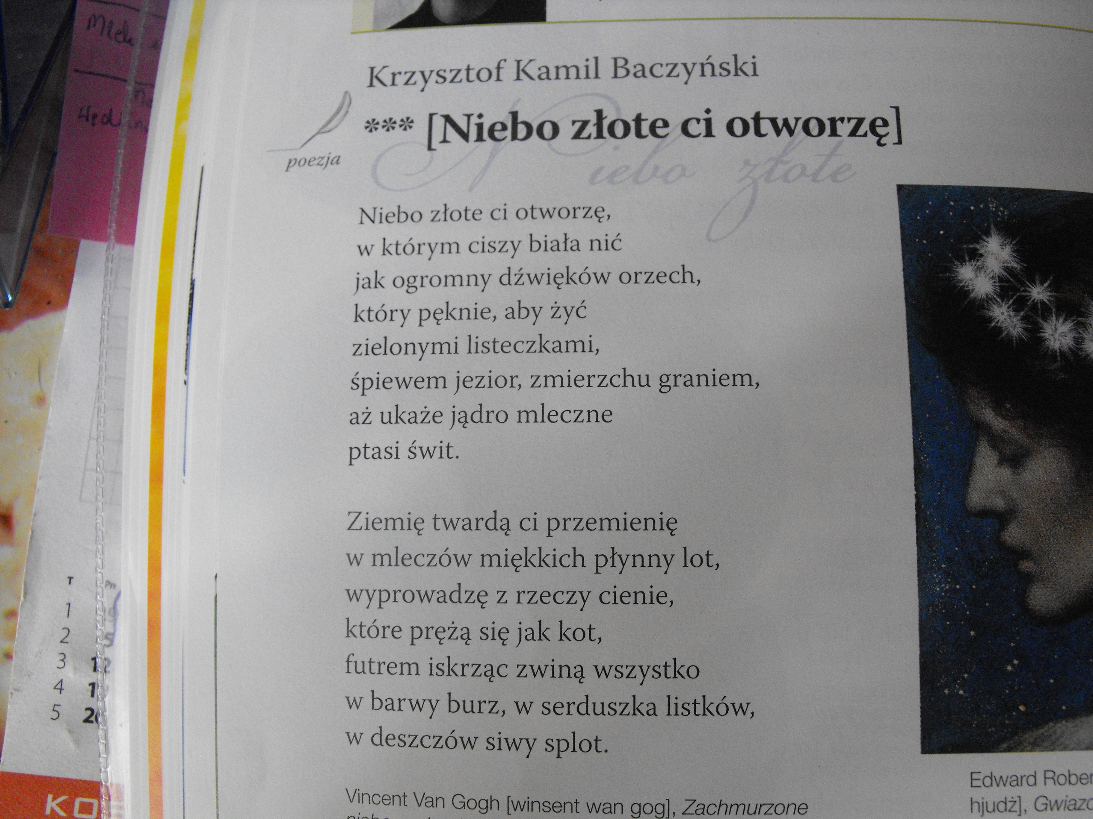 Proszę Pomoc W Zad Z Polskiego Jak Autor Wiersza Rozumie