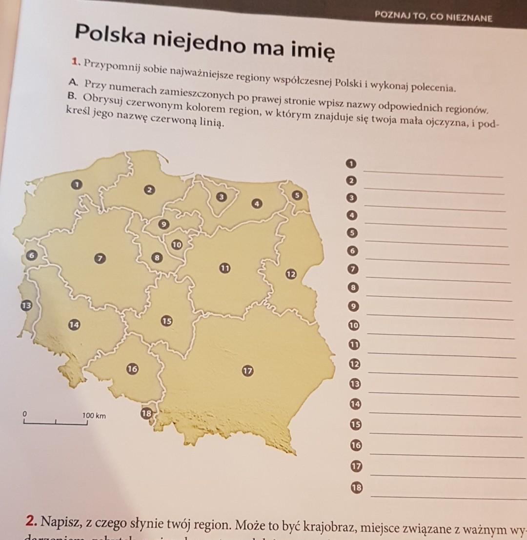 1 Przypomnij Sobie Najwazniejsze Regiony Wspolczesnej Polski I