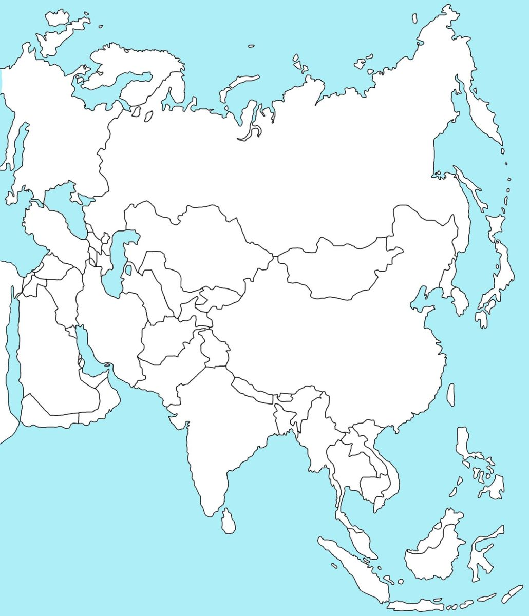 Zaznacz Na Mapie Azji W Zalaczniku Nizine Indu Turanska