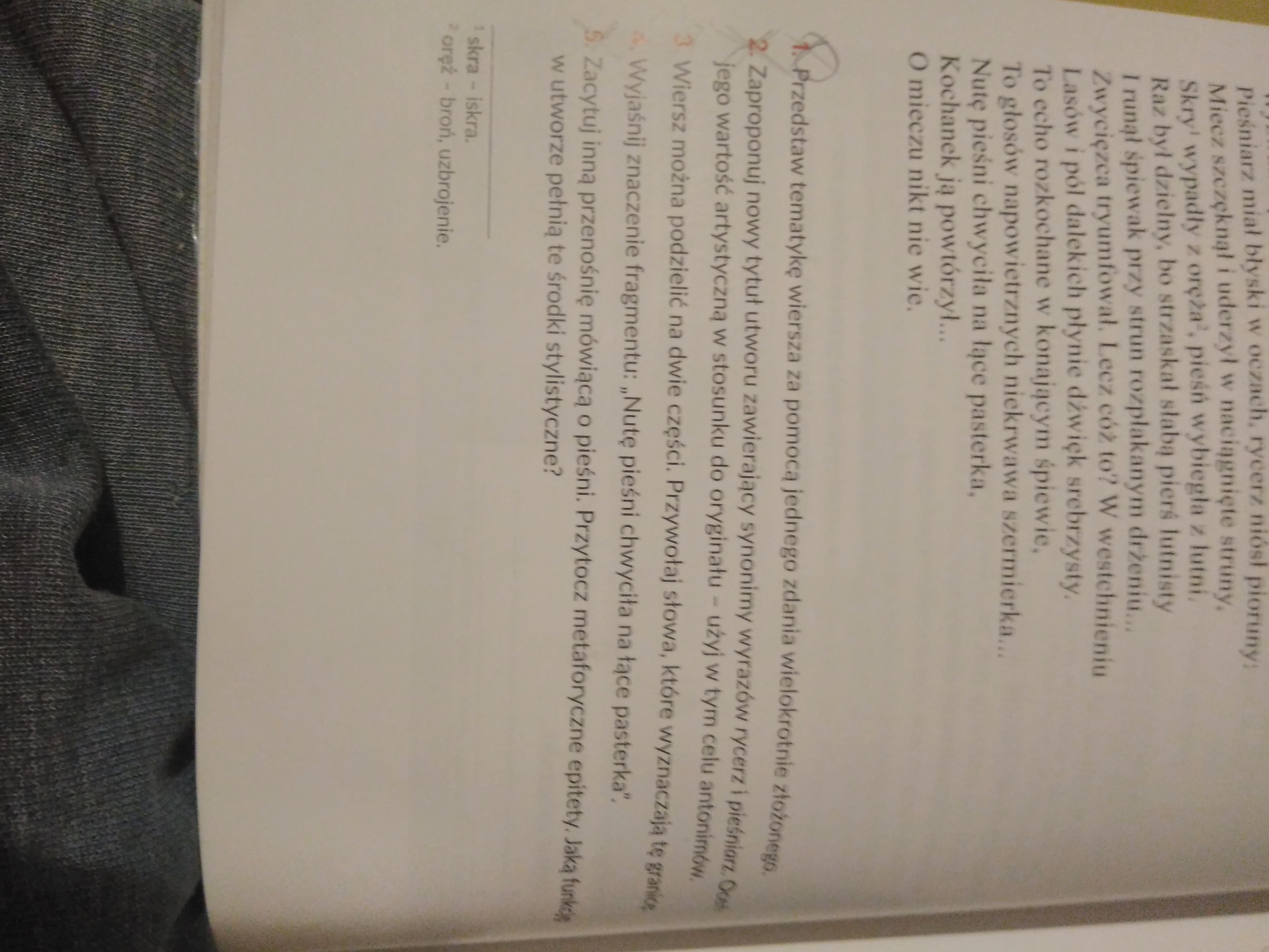 Pls Pomocy Wiersz Rycerz I Pieśniarz Zad 7 Przedstaw